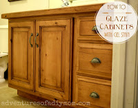 how to glaze cabinets with gel stain