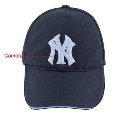 NY Baseball Cap with Spy DVR Camera - Men's Hat with Hidden Pinhole Cam