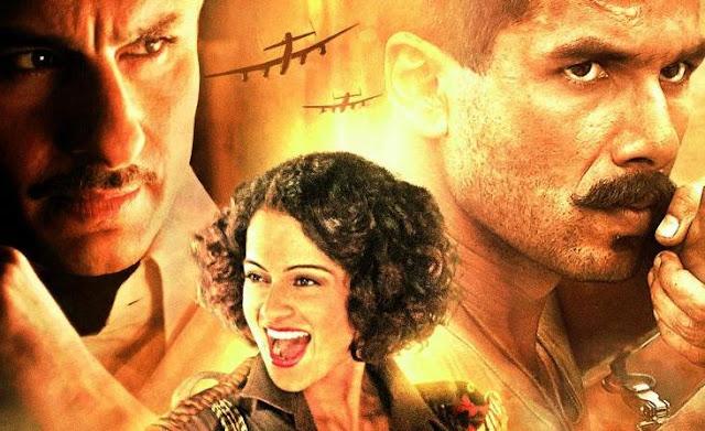 Rangoon, Saif Ali Khan, Kangana Ranaut and Shahid Kapoor.