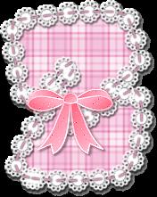 Abecedario de Costura Rosado. Cute Pink Sewing Alphabet.