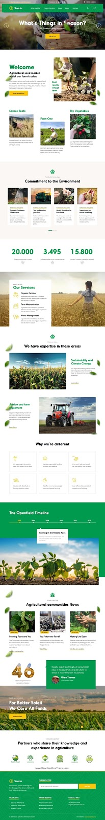 Agriculture Farming Foundation Template