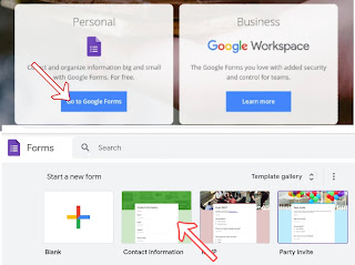 Contact Us Generator using with Google Forms