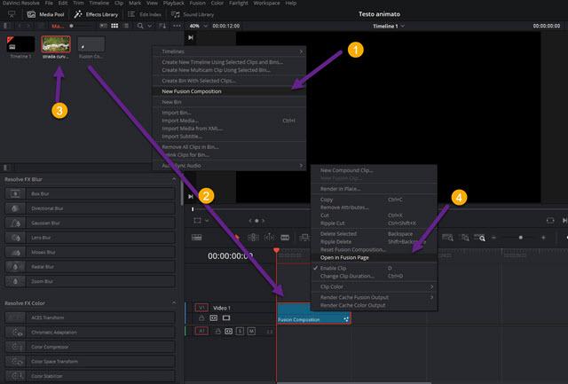 creare fusion clip