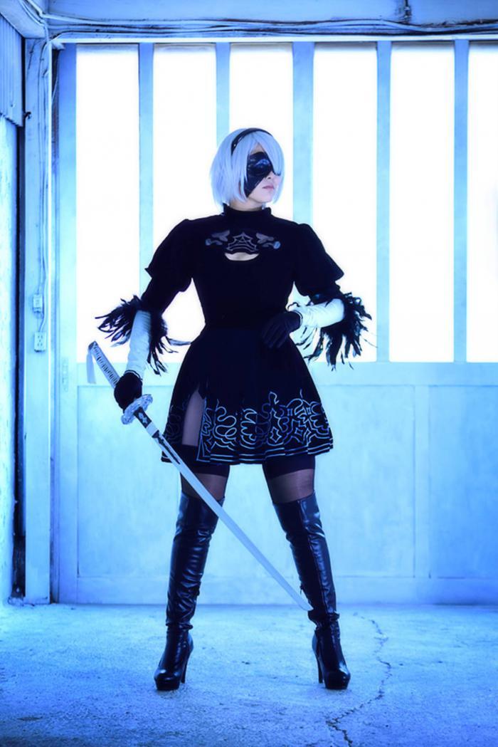 Nier Automata, Nier, postapocalypse, cyberpunk, slasher, PS4, PC, Yorha 2b, 2b, cosplay, постапокалипсис, киберпанк, слэшер, косплей