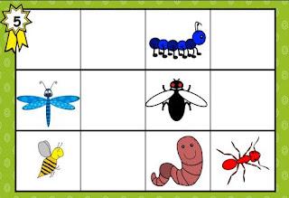 Insectes bestioles repérage dans l'espace topologie sudoku maternelle