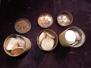 mensaje, tiempo de buscar, tesoro, latas de oro,