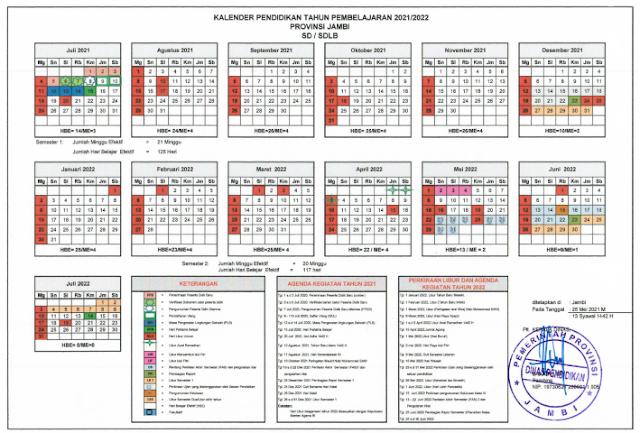 Download Kalender Pendidikan 2021/2022 Jambi pdf