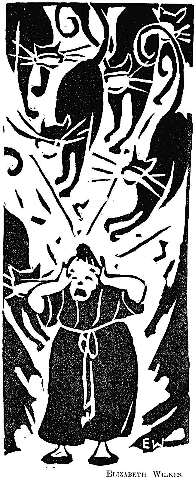 Elizabeth Wilkes 1933, a woman tormented by howling cats