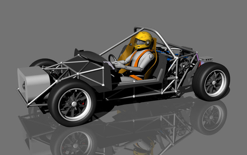 Chassis for ev sport car | 3d model cad flie for download free.