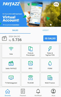 Top Up / Isi Saldo Dompet PAYFAZZ