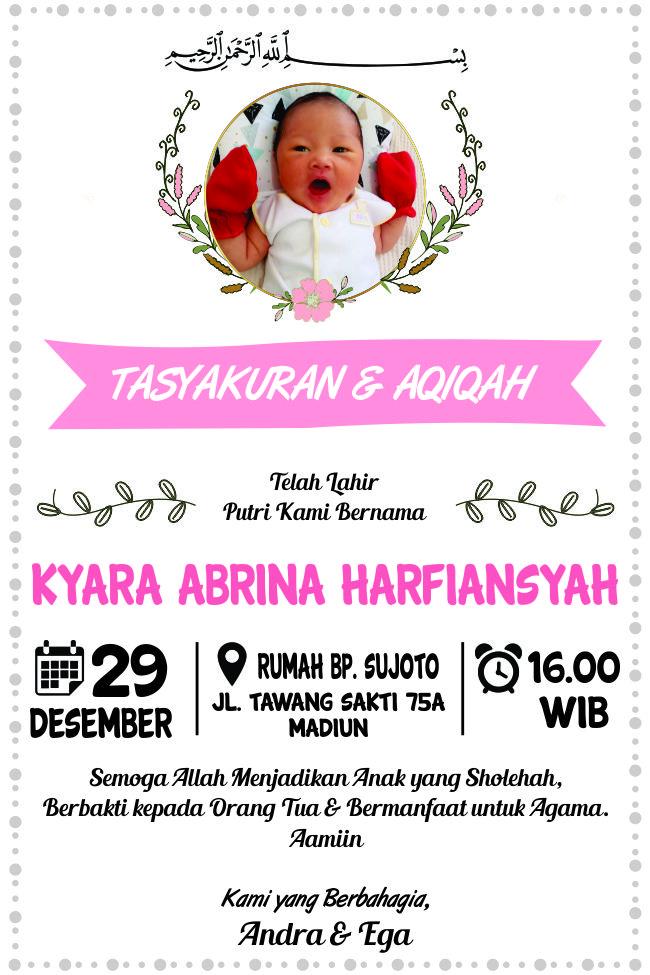 Undangan Aqiqah Cdr : undangan, aqiqah, Download, Template, Undangan, Aqiqah, Format