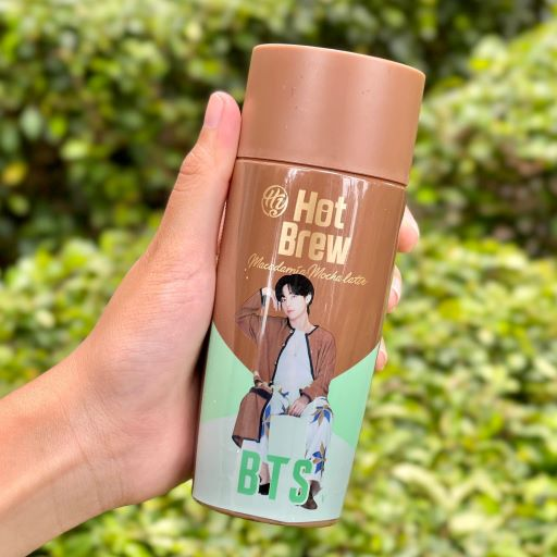 Hy BTS Coffee 2021 Edition, 7-Eleven, Cold Brew Americano, Hot Brew Vanilla Latte, Hot Brew Macadamia Mocha Latte, ARMY, V, RM, Suga, Jin, Jimin, Jungkook, J-hope, Food