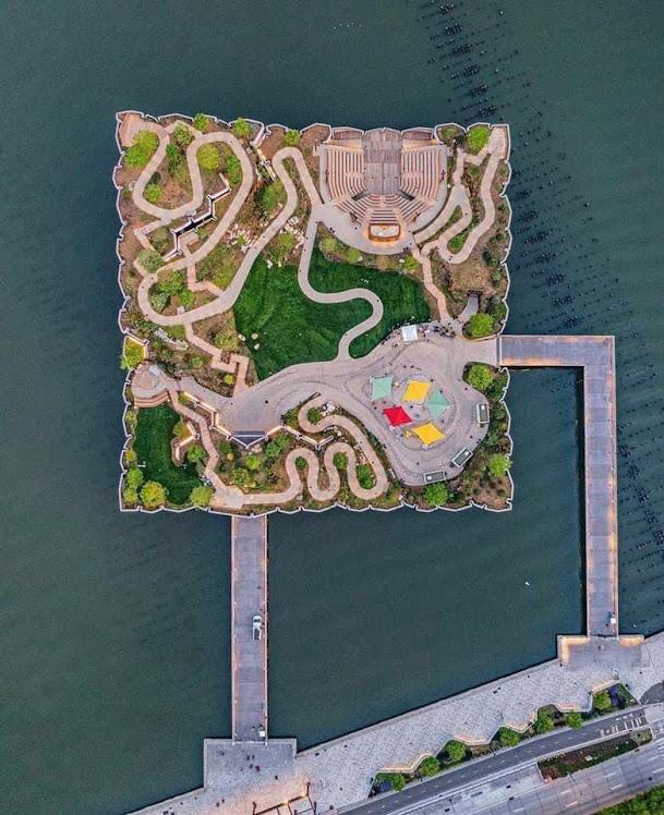 Mặt bằng nhìn từ trên cao công viên nổi Little Island