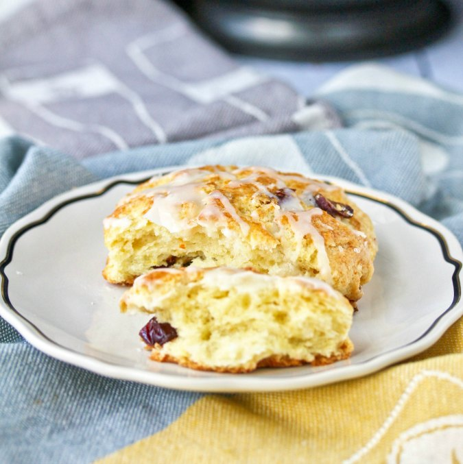 Orange and Cranberry Scones with dried cranberries