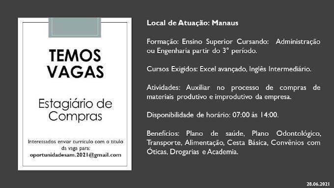 ESTAGIÁRIO DE COMPRAS