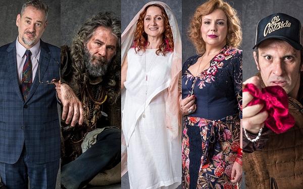 Ligação misteriosa entre personagens marca o início de 'O Sétimo Guardião' (Foto: Reprodução/João CottaGlobo)
