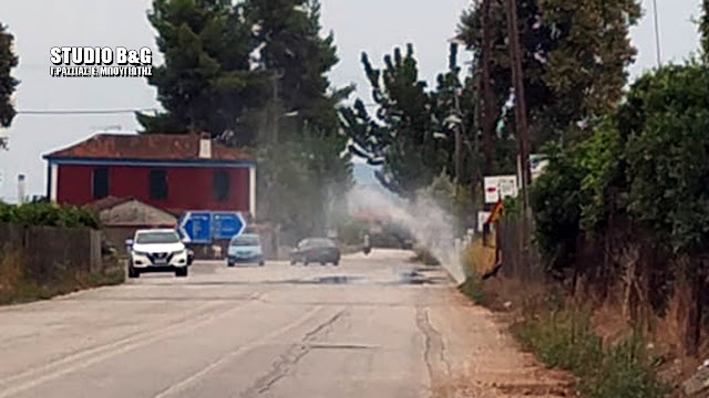 Βλάβη σε κεντρικό αγωγό της ΔΕΥΑ Ναυπλίου στα Λευκάκια - Άμεση η αποκατάσταση