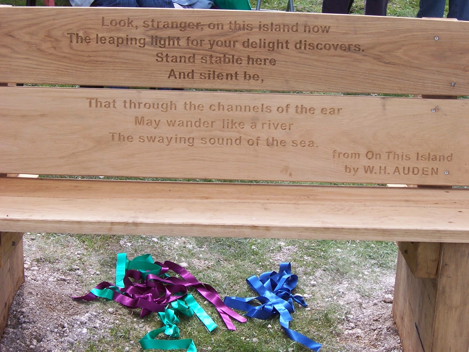 The park bench poem