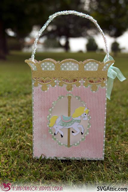 Carousel horse gift bag