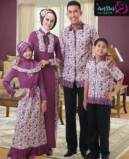 Model baju batik sarimbit muslim modis