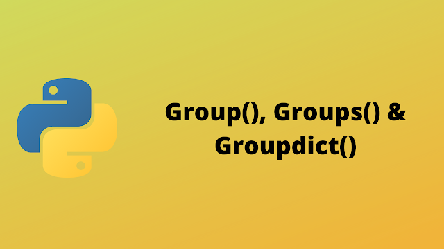 HackerRank Group(), Groups(), & Groupdict() solution in python