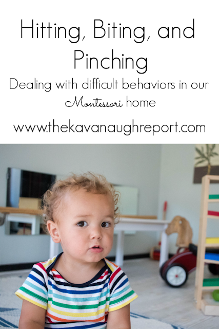 Responding to aggressive behaviors in our Montessori home - how do we deal with hitting, biting, and pinching as a Montessori parent?