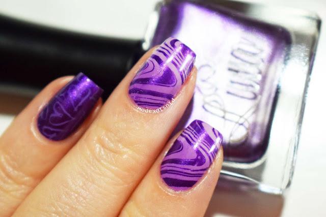 Lina Meet Me At Bourbon purple metallic stamping polish Nail Artisan