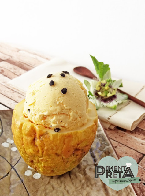 sorvete de maracuja