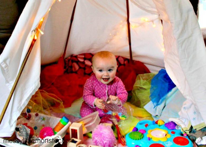 activities for babies - sensory fort for babies