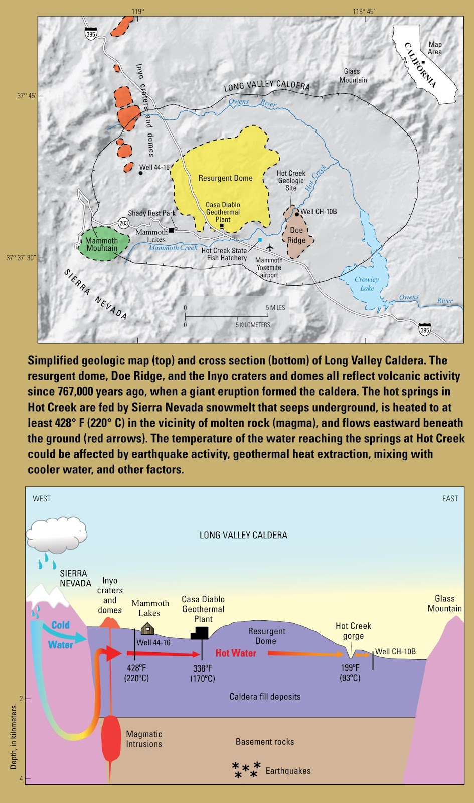 usa california new fact sheet on the long valley caldera geothermal system