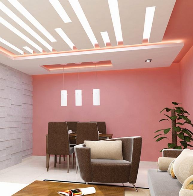 Desain Plafon Ruang Tamu Minimalis Modern