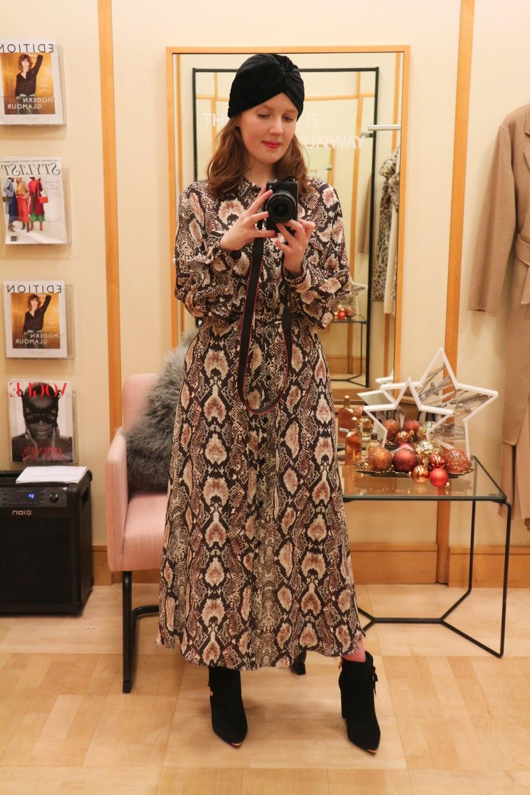 best snake print dress