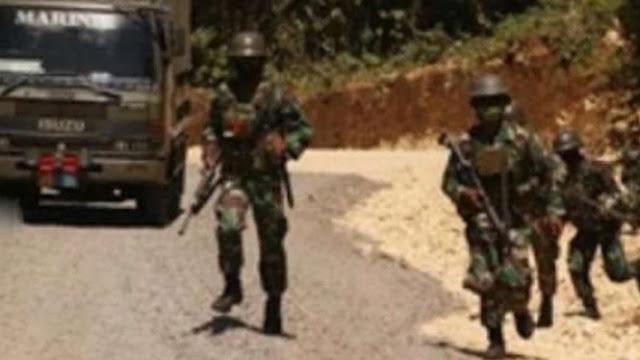 Pasukan Marinir TNI Dihadang Kelompok Bersenjata di Malang Selatan