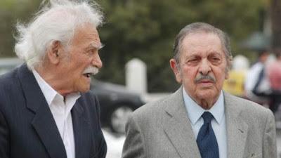 Λάκης Σάντας Μαζί με τον φίλο του Μανώλη Γλέζο