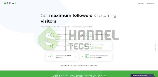 احصل على المزيد من الزوار للموقع الخاص بك باستخدام follow.it