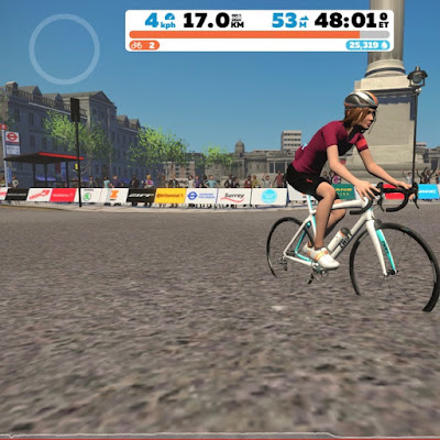 French Village Diaries covid-19 confinement day thirty-five Zwift avatar London