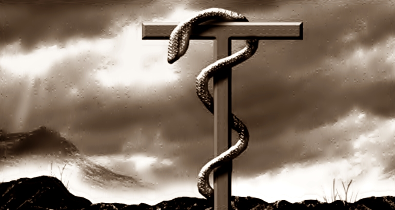 Fez Moisés uma serpente de bronze e a pôs sobre uma haste; sendo alguém mordido por alguma serpente, se olhava para a de bronze, sarava.