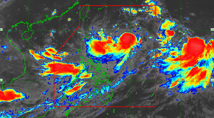 Satellite image of Tropical Storm Hanna as of 7:30 am on Tuesday, August 6, 2019