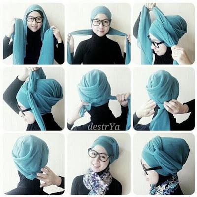 Tutorial Hijab Turban Pashmina Modern Gaya #9 Beauty Chic
