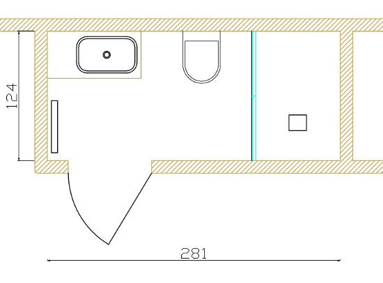 Planimetria bagno piccolo bagno lungo e stretto consigli - Bagno piccolissimo consigli ...