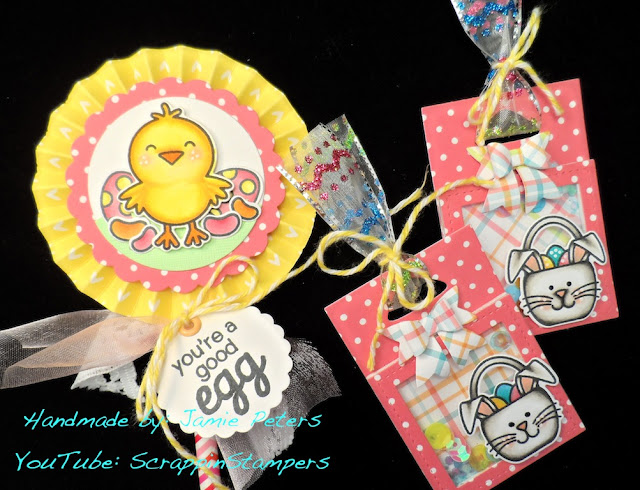 Sunny Studio Stamps: A Good Egg Easter Gift Tags & Pencil Topper by Jamie Peters