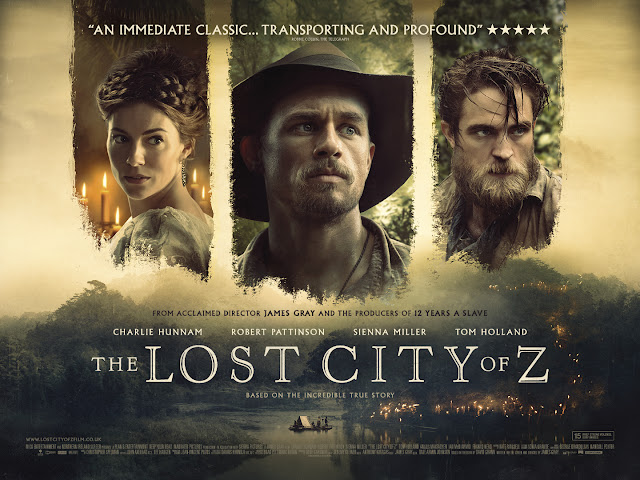 the lost city of Z poster on my website