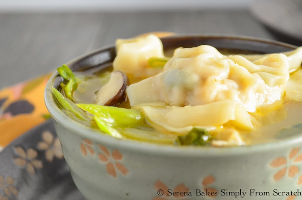 A bowl of Wonton Soup.