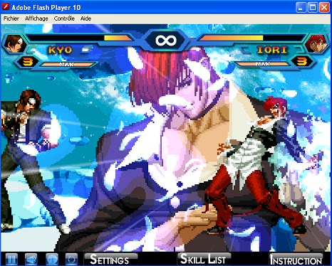 king of fighters wing 19 flash game