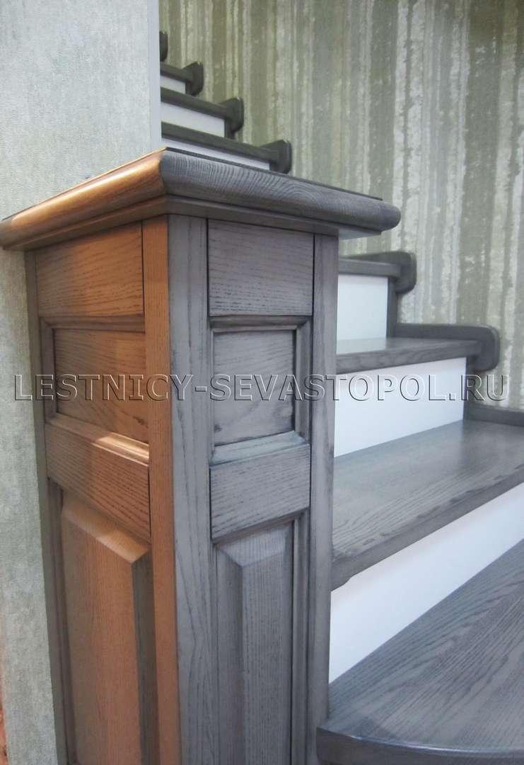 Деревянная лестница в дом цена