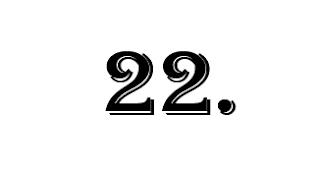 zweiundzwanzigste