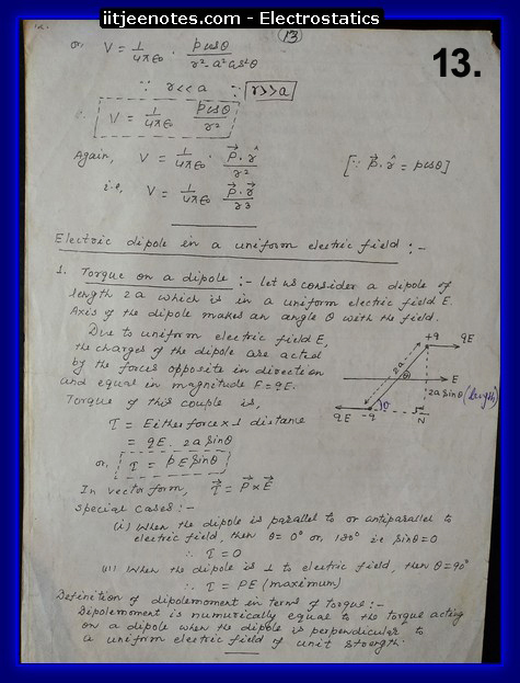 electrostatics notes school