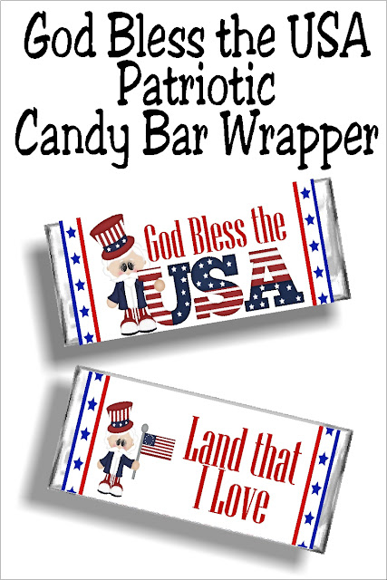 Share this beautiful God bless the USA printable candy bar wrapper at your 4th of July party this year for the perfectly sweet party favor your guests will absolutely love.  #4thofjulyparty #godblesstheusa #candybarwapper #diypartymomblog