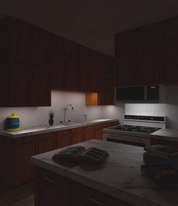 In The Night Kitchen: The Tinkers Workshop: Kitchen Remodel Preview Using Blender 3D