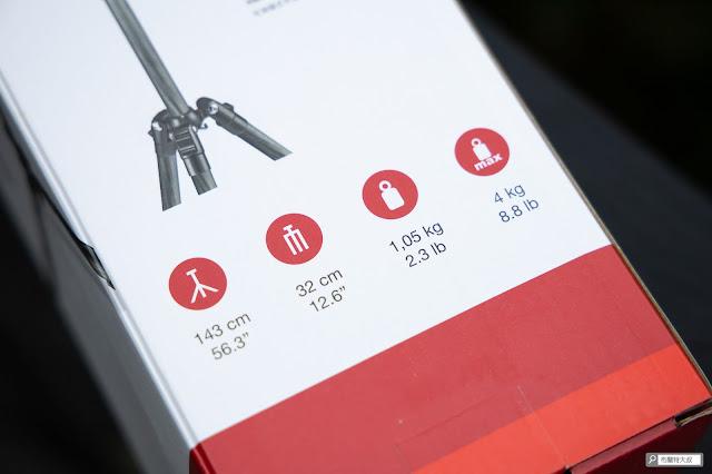 【攝影器材】Manfrotto Element 腳架,輕巧帶你走得更遠 - 產品規格